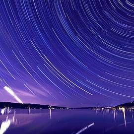 Paul Ge - Star trail on Cayuga Lake Ithaca New York
