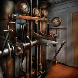 Mike Savad - Steampunk - Controls - The Steamship control room