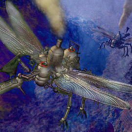 Carol and Mike Werner - Steampunk flying machines