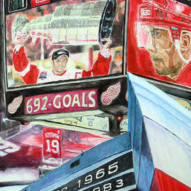 Chris Ripley - Steve Yzerman- Detroit Red Wings
