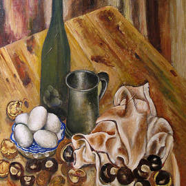 Vladimir Kezerashvili - Still Life with chesnuts and eggs