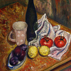 Vladimir Kezerashvili - Still Life with  lemons and plums