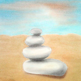 Soft Pastel Paintings - Stones