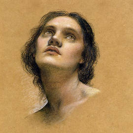 Evelyn De Morgan - Study of a head