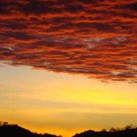 Baslee Troutman Art Prints Collections - SUNSET Art Prints Canvas Orange Clouds Twilight Sky Baslee Troutman