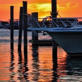 Jeff Breiman - Sunset at Sailboat Marina