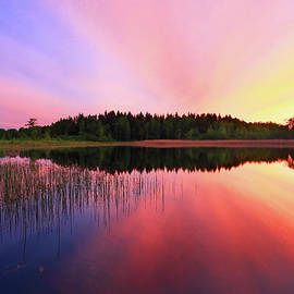 Romeo Koitmae - Sunset over lake