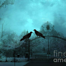 Kathy Fornal - Surreal Gothic Ravens Fantasy Art Gate Scene