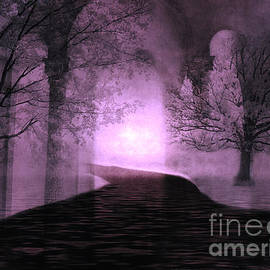 Kathy Fornal - Surreal Purple Fantasy Nature Path Trees Landscape