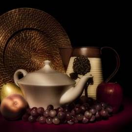 Tom Mc Nemar - Teapot With Fruit still Life