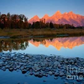 Idaho Scenic Images Linda Lantzy - Tetons Reflected
