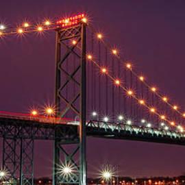 Gordon Dean II - The Ambassador Bridge at Night - USA To Canada