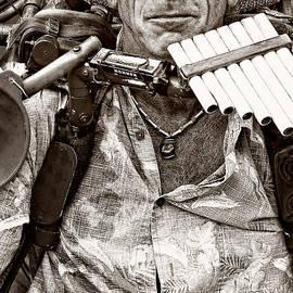 Kathleen K Parker - The Music Man - monochrome