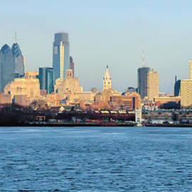 Bill Cannon - The Philadelphia Waterfront from Camden
