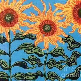 Genevieve Esson - Three Sunflowers II