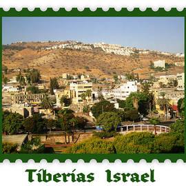 Tiberias  Israel  Postage Stamp Look