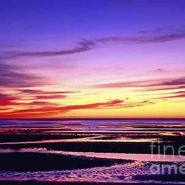 John Greim - Tidal flat sunset.