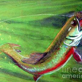 Merton Allen - Trout On - Pastel Painting