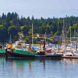 Heidi Smith - Tug Boats At Bainbridge Island