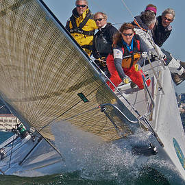 Steven Lapkin - Upwind and up high on San Francisco Bay