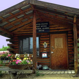 Sally Weigand - US Post Office log cabin