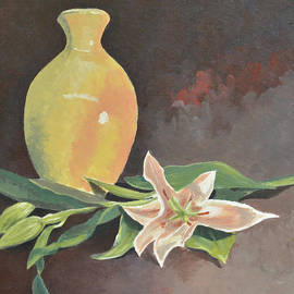 Marina Garrison - Vase and Orchids