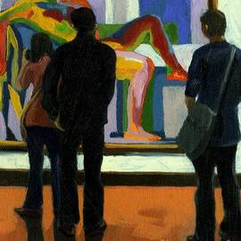 Linda Apple - Viewing the Nude oil painting
