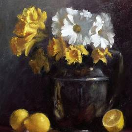 Viktoria K Majestic - White Daisies and Daffodils