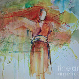 Sandra Taylor-Hedges - Wind Woman in Kimono