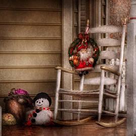 Mike Savad - Winter - Metuchen NJ - Waiting for Santa