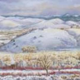 Dawn Senior-Trask - Winter Panorama from the River Mural