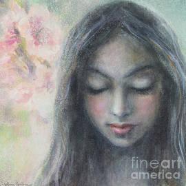 Svetlana Novikova - Woman praying meditation painting print