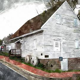 Brian Wallace - Wye Mill - Water Color Effect