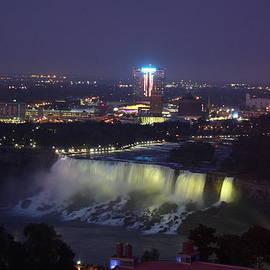 Christiane Schulze Art And Photography - Yellow Light Over The Niagara Falls  - Canada