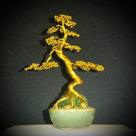 Ricks  Tree Art - # 70 Tiny little Brass Tree Sculpture