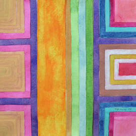 Heidi Capitaine - An Orange Gap between Outlined Squares