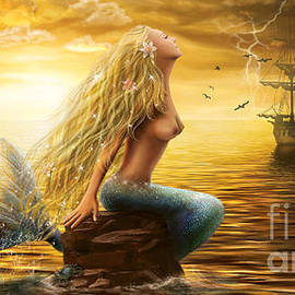 Alena Lazareva -  Beautiful Fantasy Sea Mermaid  at Sunset