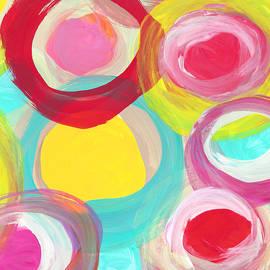 Amy Vangsgard -  Colorful Sun Circles Square 2