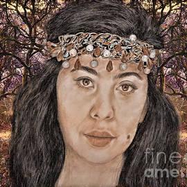 Jim Fitzpatrick -  Filipina Model Kaye Anne Toribio in a Mystical Forest.