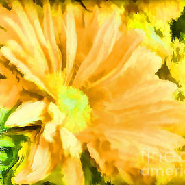 Sherri  Of Palm Springs -   flower Art Mellow Yellow by Sherriofpalmsprings