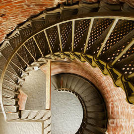 Lighthouse Stairs Cape Blanco Oregon 1