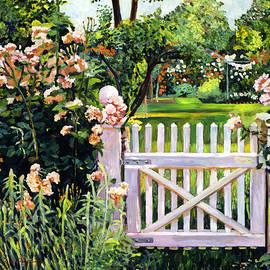 David Lloyd Glover -  Roses At The Garden Gate