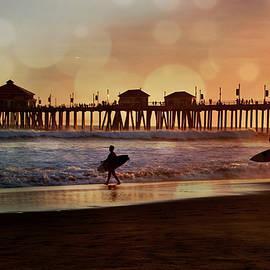 Debra Souter - Huntington Beach Sunset Surfers