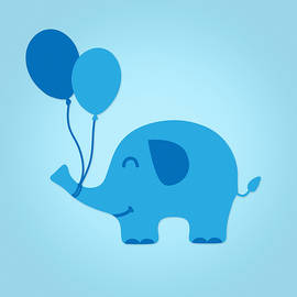 Philipp Rietz -  Sweet Funny Baby Elephant with Balloons