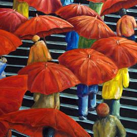 AnneKarin Glass - 01149 Climbing Umbrellas