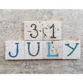 Adriano La Naia - 31st July, Calendar Date  On Carved