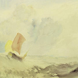 A Sea Piece  A Rough Sea with a Fishing Boat - Joseph Mallord William Turner