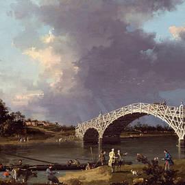 A View of Walton Bridge - Canaletto