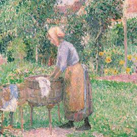 Camille Pissarro - A Washerwoman at Eragny