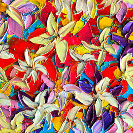 Ana Maria Edulescu - Abstract Colorful Flowers 7 - Paint Joy Series